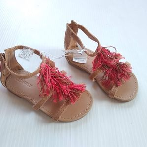 Old Navy • tassle fringe gladiator sandals sz 6